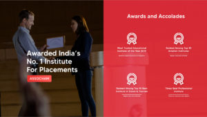 Awarded India's No.1 Institute of Placements